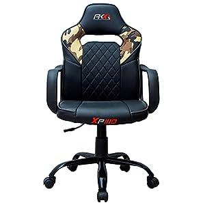 AKX GAMER - Silla Gaming XP10 Camuflaje/Negro - Silla Oficina Gamer de Estudio y Escritorio - Silla en Color Camuflaje y Negro - Medidas: 46 x 49 x 114-104 cm