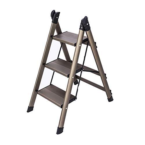 Klaptreden ladder kruk trapladder multifunctionele Home trapladder inklapbare trapladder van dik aluminium drietraps draagbare ladder ladder ladder kruk