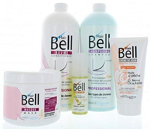 HairBell Shampoo + Conditioner + Maske + HairCream + Serum/HairJazz/Hair+