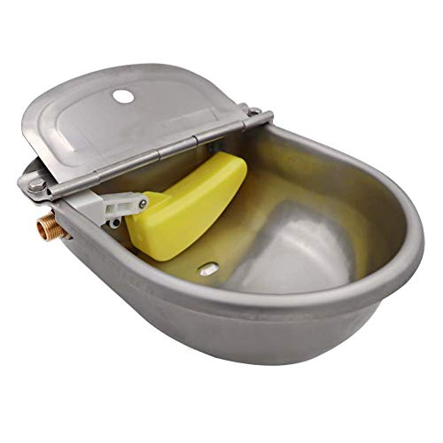 M.Z.A Acero Inoxidable Cuenco Waterer Automático Caballo Ganado Cabra de Bebedero para Ganado Válvula de Flotación de Agua A Través de Suministros de la Granja