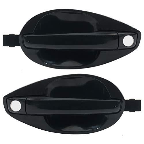LSAILON Exterior Door Handles Front Driver Passenger(Left Right) Side Black fits 2003-2008 for Hyundai Tiburon 2003-2008 for Hyundai Tiburon Coupe(2pcs)