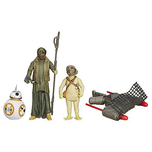 Star Wars Il risveglio della Forza - Statuette da 9,5 cm, Lotto di 3, Missione nel Deserto, BB-8 e Il Criminale di Unkar (Set di 3)