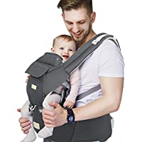 Fruiteam 6-in-1 Baby Carrier with Waist Stool