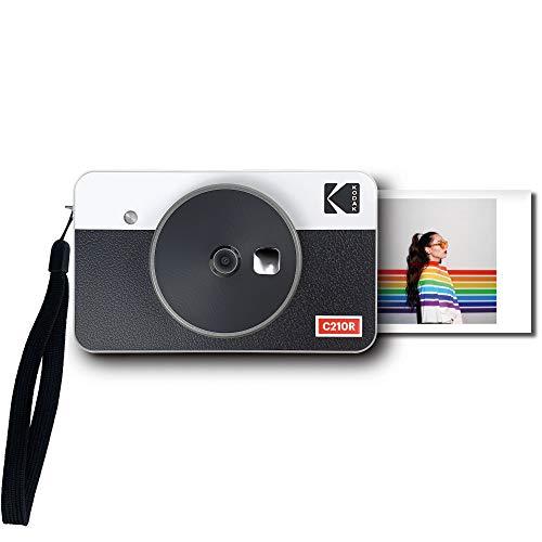 コダック(Kodak)Mini Shot 2 レトロ ポータブル ワイヤレス インスタントカメラ&フォトプリンター &スマホプリンター&ミニプリンター&チェキ&モバイルプリンター iOS/Android/Bluetoothデバイス対応 実物の写真(2.1x3.4インチ/5.3x8.6cm)4Passテクノロジー