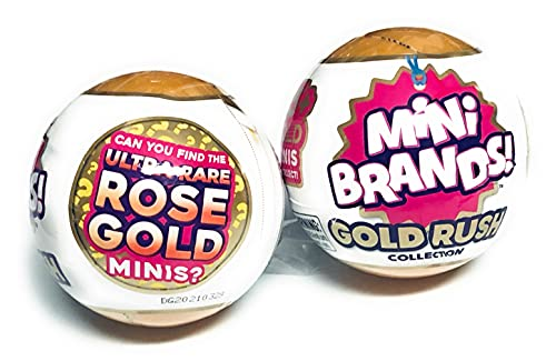 5Surprise Mini Brands Gold Rush Collection Exclusive Mini Brand Toys!!...