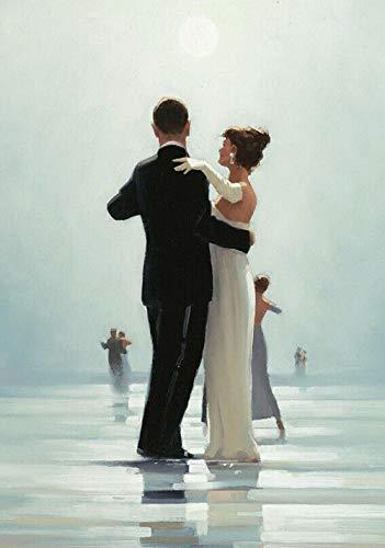 Jack Vettriano Dance Methe End of Love Fine Canvas Poster Art Dormitorio Decoración 18x24inch (45x61cm)