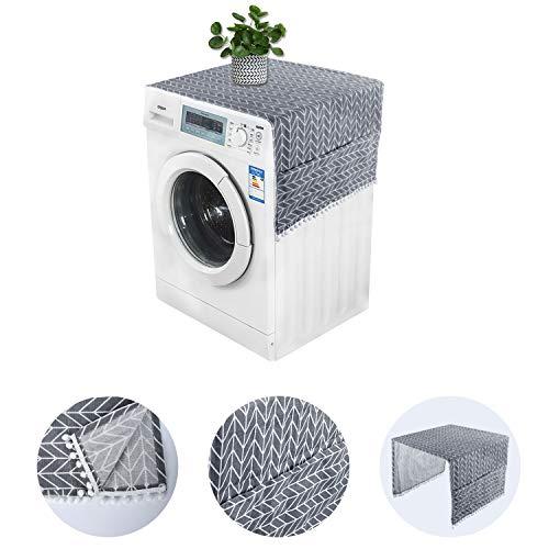 KATELUO Kühlschrank Staubschutz, Waschmaschinenbezug,Kühlschrank Staubschutz mit Aufbewahrungstasche, Staubschutzhülle für Kühlschrank Trockner Waschmaschine (Style C)