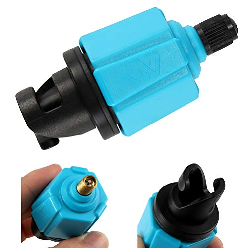 Houkiper Adaptador de Válvula de Aire, Adaptador de Bomba Inflable Válvula de Aire Tablero de Remo Accesorios para Embarcaciones