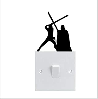 Vinyl Wall Decal Quote Stickers Home Decoration Wall Art Mural Fighter Switch for Light Switch Sticker
