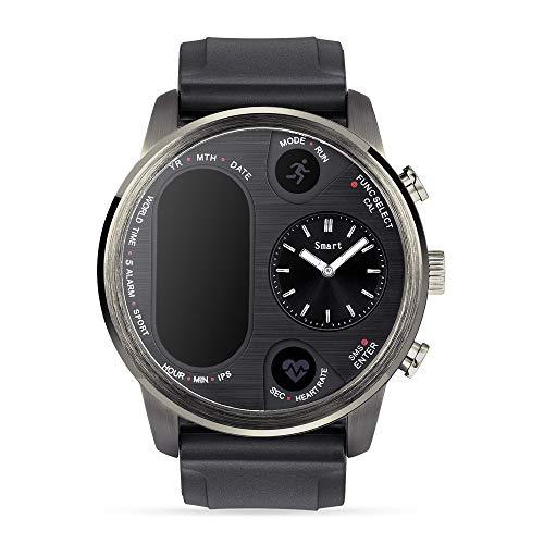 Reloj inteligente IPS de doble hora para hombre, monitor de ritmo cardíaco, monitor de presión arterial, Bluetooth 4.0, resistente al agua, IP68, iOS, Android, reloj deportivo para hombres