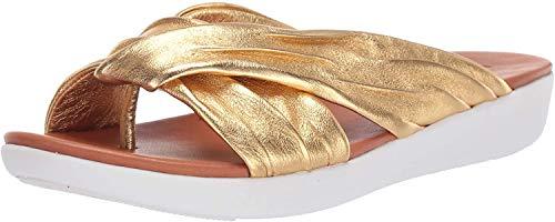 FitFlop Women's Twine Sandal, Gold, 8 M US