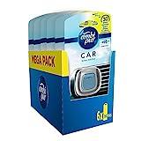 AmbiPur Car Ambientador Coche, Difusor (6 x 2ml), Elimina y Previene los Malos Olores, Fragancia Brisa Marina, Mega Pack