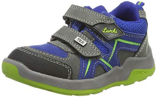 Lurchi Jungen Matthias-TEX Sneaker, Grau (Grey Cobalt 42), 35 EU