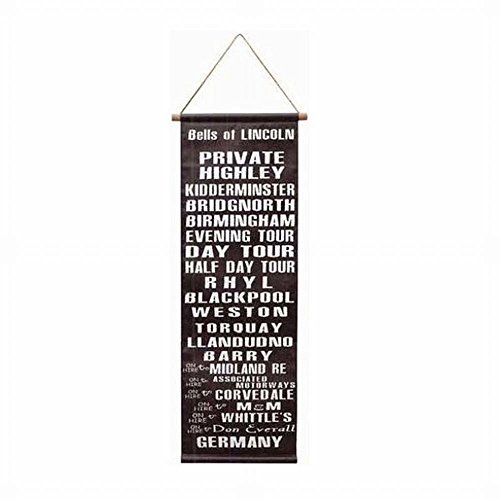 バスロールサイン タペストリー ヴィンテージ 文字 ウォールデコ 壁掛け 男前インテリア ロールサインタペストリーD COCO MIEL ココミエル
