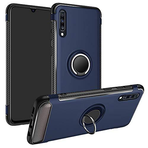 LFDZ Galaxy A70 2019 Anillo Soporte Funda, 360 Grados Giratorio Ring Grip con Gel TPU Case Carcasa Fundas para Samsung Galaxy A70 2019 (Not fit Galaxy A10 / A20 / A30 / A40 / A50),Azul