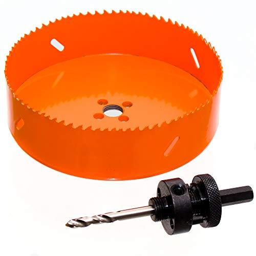 HSS Bi-Metall Lochsäge Ø 210 mm mit Adapter für INOX, Holz, Regipsplatten, Kunststoff, Metall