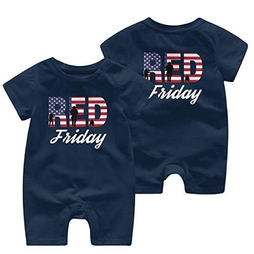 Rode vrijdag Peuter Baby korte mouw Bodysuit Baby Romper Jumpsuit 0-24 Maanden