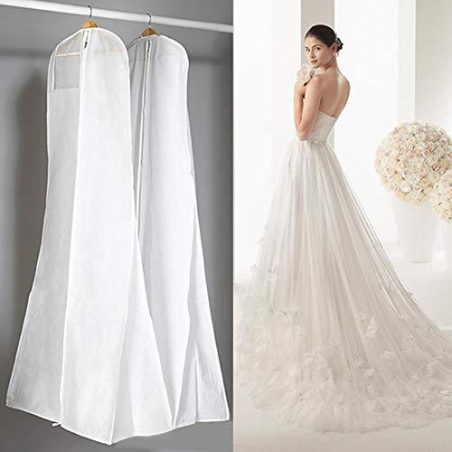 Kledingzak beschermhoes anti-stof trouwjurk kledingzak schermbeschermfolie afdekking voor bruidsjurken avondjurken pakken mantels 160/170/180 cm 180 * 80 * 22 wit