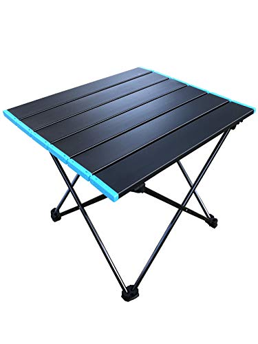 Amitay Aluminum Folding Camping Table,Portable Lightweight Table with...