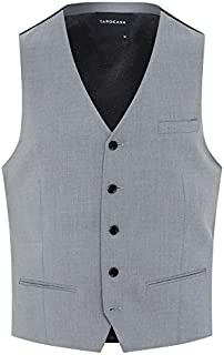 Tarocash Men's Pierce Stretch Waistcoat Polyester Blend Regular Fit Sizes XS-5XL for Going Out Smart Occasionwear Formalwear Vests