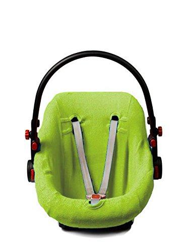 Briljant Baby Ersatzbezug / Schonbezug Frottee für Babyschale 0+ passend für Maxi Cosi, Römer u.a. lime
