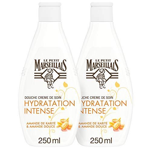 Le Petit Marseillais - Douche Crème Hydratation Intense - Beurre de karité & Amande douce 250ml lot de 2