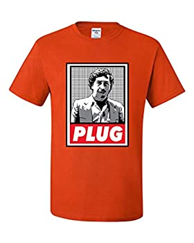 Wild Bobby Pablo Escobar Plug Cocaine Cowboys Narcos Tee Graphic | Mens Pop Culture Graphic T-Shirt Orange Large