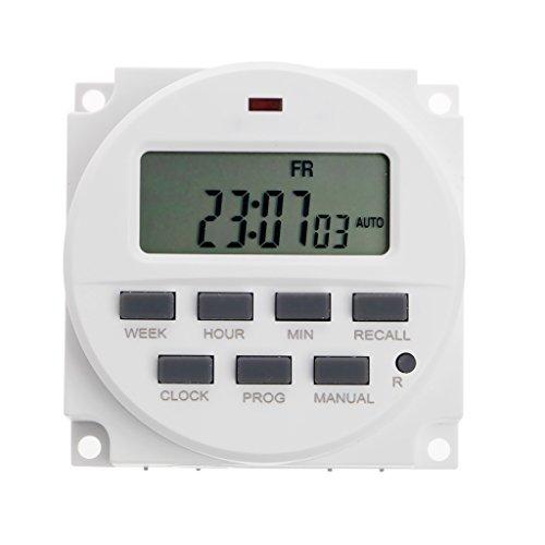 BIlinli 15,98 Zoll LCD Digital Timer 12V DC 7 Tage programmierbare Zeitschaltuhr TM618N-4