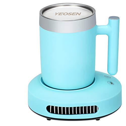 YEOSEN Coffee Mug Warmer and Cooler - 2 IN 1 Beverage Warmer and Drink Cooler with Mug, Auto Shut...