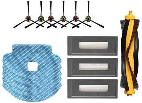 NICERE Recambios de aspiradora adecuados para accesorios de robot de barrido Deebot OZMO 930, cepillo principal, cepillo lateral, filtro HEPA, trapeador de trapo