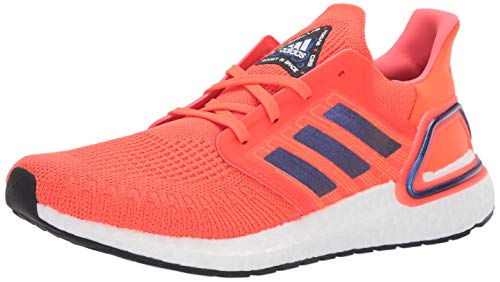 adidas Men's Ultraboost 20 Running Shoe, Solar Red/Boost Blue Violet Metallic/White, 12 M US