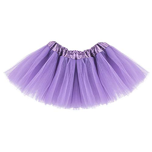 Baby Tutu Skirt, Infant Tutus, 5 Layers Tulle Dress Up for Baby Girls & Toddlers Light Purple