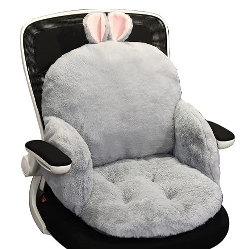 Klg Comfortable Chair Cushion Plush Cartoon Cushion LANGUID Sofa Cushion Comfortable Cushion Pillow Girl Gift (Gray)