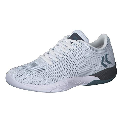 hummel Herren Handballschuhe Omnicourt Engineered 212438 White 38