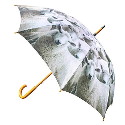 Mars & More Regenschirm Schaf 105 cm (Holz: Eukalyptus, Stoff: Polyester, Gestell: Stahl)