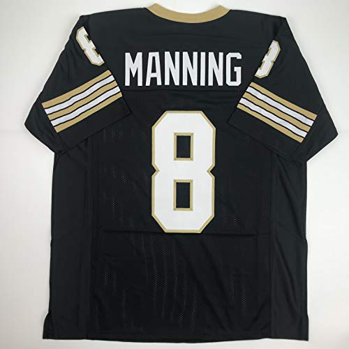 Unsigned Archie Manning New Orleans Black Custom Stitched Football Jersey Size Men's XL New No Brands/Logos