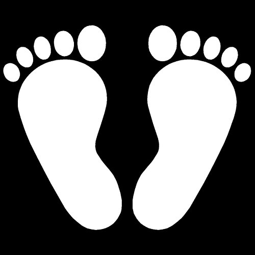 Autocollant pour voiture Baby pieds, pieds autocollants (versch. Couleurs & tailles)