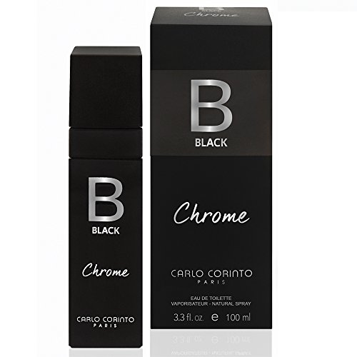 Carlo Corinto Carlo Corinto Black Chrome 100 Ml Edt Spray Perfumes para Hombre Negro Talla 100 Ml Edt Spray
