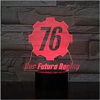 フォールアウト76私たちの未来はUSB3DLEDナイトライトボーイズチャイルドキッズベビーギフト装飾ライトゲームテーブルランプを開始します