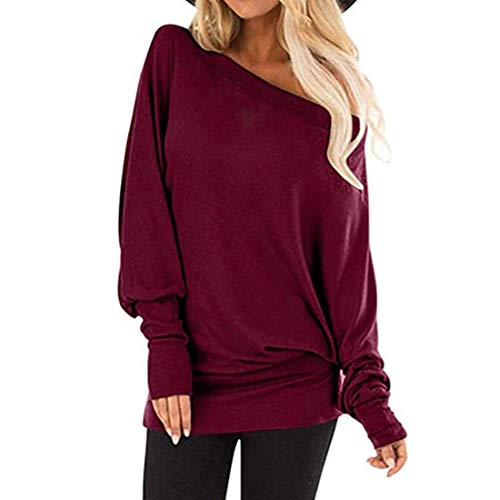 Women's Pullover t Shirt Crew Neck Long Sleeve Outdoor Loose Comfortable Casual Daily Wear Sexy Streetwear Spring, Summer and Autumn New Sweatshirt L