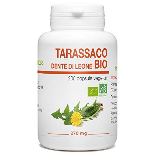 Tarassaco Bio - Dente di Leone - Taraxacum officinale - 270mg - 200 capsule vegetali