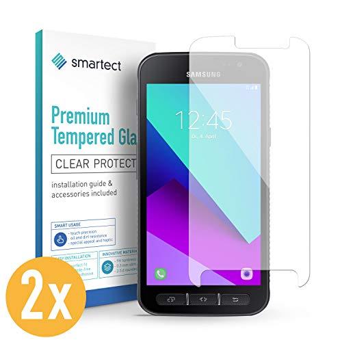 smartect Panzerglas kompatibel mit Samsung Galaxy Xcover 4s / 4 [2 Stück] - Bildschirmschutz mit 9H Festigkeit - Blasenfreie Schutzfolie - Anti Fingerprint Panzerglasfolie