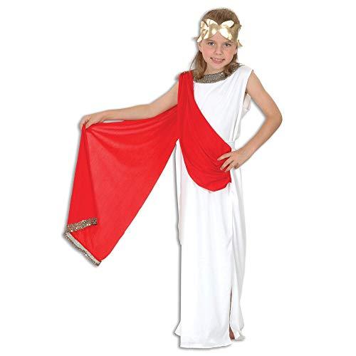 Bristol Novelty - Disfraz Infantil de Diosa Romana para nias (S) (Blanco/Rojo/Dorado)