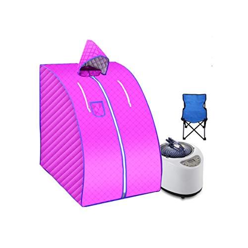 Upupto Dampfbad Tragbare Sauna Home Sauna-Badewanne umfassen Fold-Stuhl-Sauna-Box Leichtigkeit Schlaflosigkeit Edelstahl-Rohrstütze 1000W 2L
