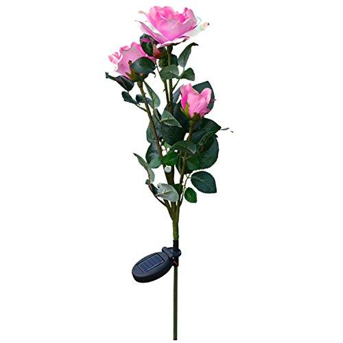 Gosear en Plein air Solar Propulsé 3 Del Artificiel Rose Fleur Lumière Lampe Jeu pour Accueil Jardin Yard Pelouse Voie de Parti Décoratifs Paysage Rose
