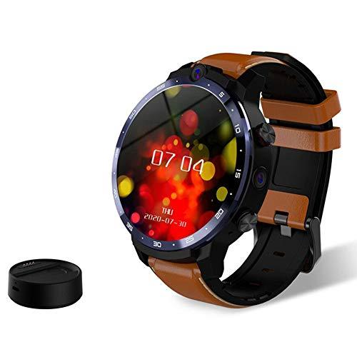 Festnight LEM12 Pro 4G LTE Smartwatch 4 + 64 GB Android 10.0 GPS Tracker Smartwatch 5MP + 8MP Doppelkameras Herzfrequenzmesser Schrittzähler Wecker Kalender wasserdichte Sportuhr