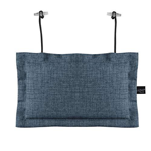 LILENO HOME Palettenkissen Set Jeans - Deko-Kopfkissen 22x35 cm - Polster für Europaletten - Palettenkissen Outdoor als Sitzkissen für Palettenmöbel