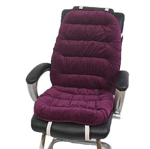 FDCVF Elektrisch verwarmingskussen, bureaustoel, warme bekleding, pad verlicht klachten in de taille, huishouden 9 temperatuur instelbaar, 2-traps timming 50 × 110 cm