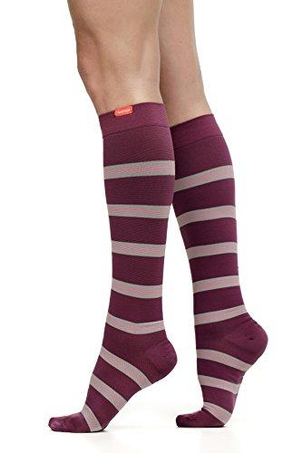 VIM & VIGR Women's 15-20 mmHg Graduated Compression Socks - Nylon Collection