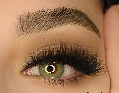 Kontaktlinsen Royal von Halima Grün, 1 Paar (2 Stück) farbige Kontaktlinsen ohne Stärke - Jahreslinsen Halima Linses